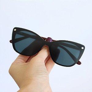 Armação de Óculos de Grau 2 em 1 Livy Bordô