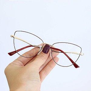 Armação de Óculos de Grau Telica Seja Cereja