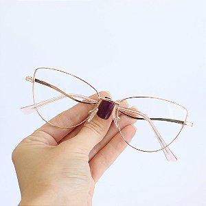 Armação de Óculos de Grau Gatinho Telica Rose Seja Cereja