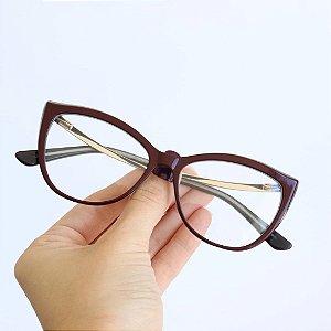 Armação de Óculos de Grau Nancy Seja Cereja
