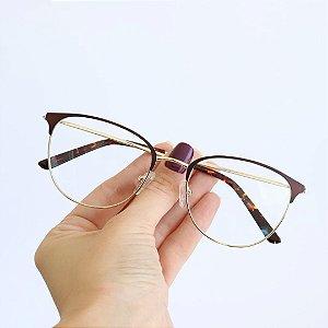 Armação de Óculos de Grau Merida Cobre