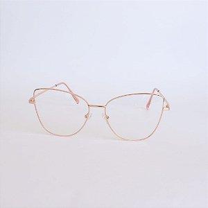 Armação de Óculos de Grau Rose Gold Liberia Seja Cereja
