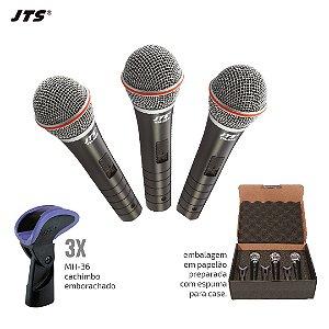 Kit de Microfone de Mão profissional - TRI-TM-929