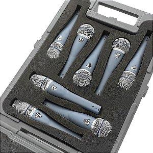 Kit de microfones para voz profissional com 8 microfones - NXB-8V