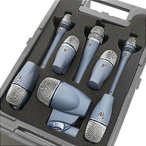 Kit de Microfones para percussão com 8 microfones - Série NX - NXB-8M