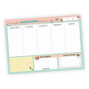 Bloquinhos Planejamento Semanal - Rosa