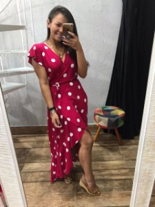 Vestido Poá