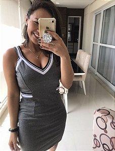 Vestido malha canelada