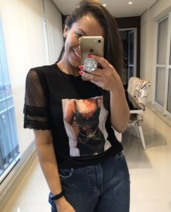 T-shirt aplicação