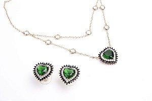 Conjunto Amoeto Coração Green
