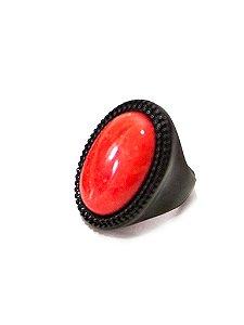Anel Amoeto Oval Pedra Natura Orange