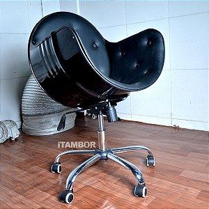 Cadeira Giratória de Tambor de Metal