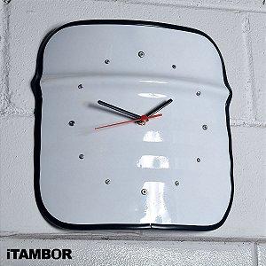 Relógio de Tambor de Metal Decorativo