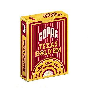 Baralho de Poker Copag Texas Hold'em Borgonha