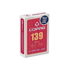 Baralho Copag 139 Braille Naipe Extra Gigante Vermelho