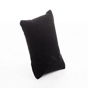 Almofada Para Relógio Veludo com TNT 10x6 cm Preto | 1 Uni