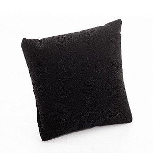 Almofada Para Relógio Veludo com TNT 8x8 cm Preto | 1 Uni