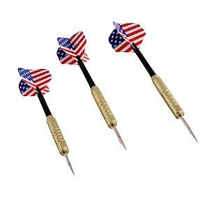 Kit 3 Dardos Profissionais 18 Gramas Bandeira Estados Unidos