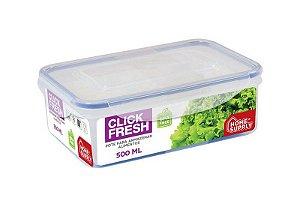 Pote Hermético Click Fresh 500ml Para Armazenar Alimentos