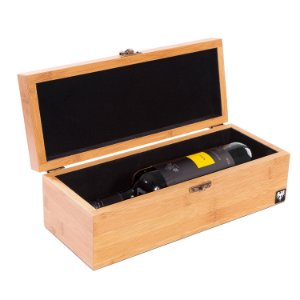 Estojo Porta Vinho em Madeira para 1 Garrafa | Bamboo