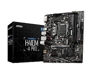 Placa Mãe MSI H410M-A PRO Intel LGA 1200 mATX DDR4