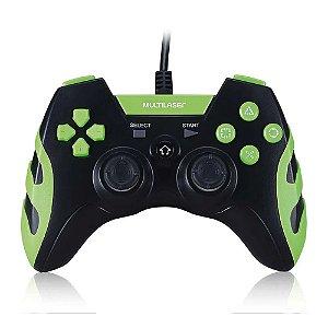 Controle Gamer PS3/PC Multilaser Preto/Verde - JS091