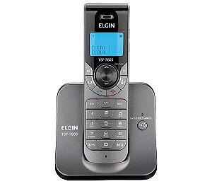TELEFONE SEM FIO ELGIN TSF7800 COM ID CHAMADA E VIVA VOZ GRAFITE