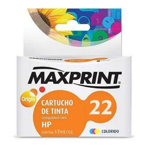 CARTUCHO MAXPRINT PARA HP C9352A COLOR (22) 17ML