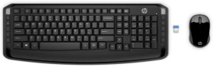 KIT TECLADO E MOUSE WIRELESS HP 300