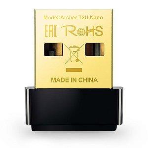 ADAPTADOR USB WIRELESS DUAL BAND TP-LINK ARCHER T2U AC600