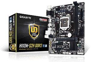 PLACA-MÃE GIGABYTE GA-H110M-S2H INTEL 1151 DDR3 S/V/R