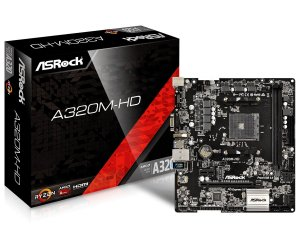 PLACA-MÃE ASROCK A320M-HD S/V/R AM4 M.2 DDR4