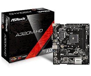PLACA-MÃE ASROCK A320M-HD S/V/R AM4 M.2 DDR4