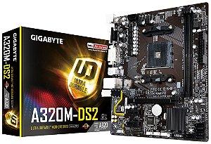 PLACA-MÃE GIGABYTE GA-A320M-DS2 S/V/R AM4 DDR4