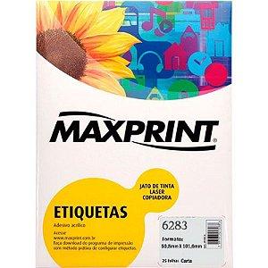 ETIQUETA INK/LASER MAXPRINT 6283 50.8X101.6 25 FLS