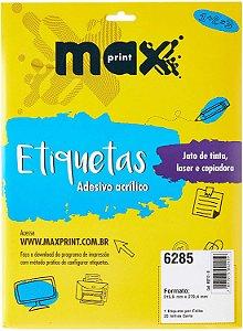 ETIQUETA INK/LASER MAXPRINT 6285 215.9X279.4 25 FLS