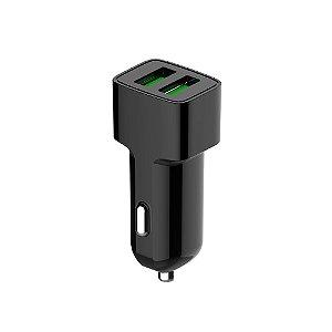 CARREGADOR AUTOMOTIVO C3TECH COM 2 USB 2.4A UCV-20BK