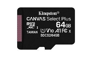 CARTÃO DE MEMÓRIA 64GB SD KINGSTON CANVAS SDCS2/64GB CLASSE 10