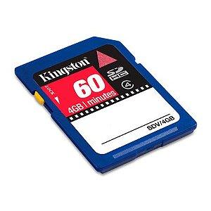 CARTÃO DE MEMÓRIA SD SDHC PARA VIDEO 4GB KINGSTON 4 MB/S