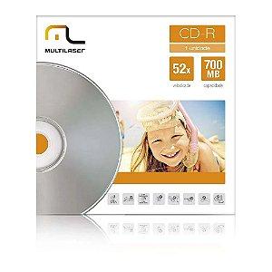 CD-R ENVELOPE PAPEL MULTILASER 52X 700MB CD006