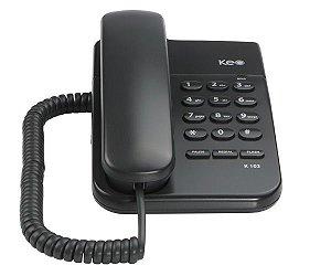 TELEFONE COM FIO KEO K103  GRAFITE MESA OU PAREDE