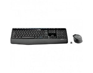 KIT TECLADO E MOUSE WIRELESS COMFORT PRETO LOGITECH MK345