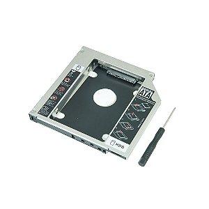 ADAPTADOR DVD PARA HD OU SSD NOTEBOOK DRIVE CADDY 9.5MM AC050