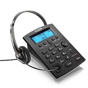 TELEFONE HEADSET ELGIN HST-8000 COM IDENTIFICADOR DE CHAMADA
