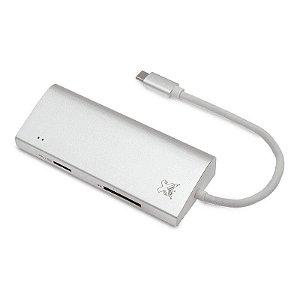 HUB USB-C MAXPRINT 5 PORTAS 2 USB 3.0 RJ45 HDMI USB-C