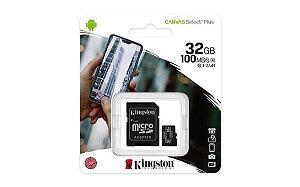 CARTÃO DE MEMÓRIA 32GB SD KINGSTON CANVAS SDCS2/32GB CLASSE 10