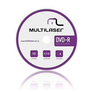 DVD-R MULTILASER  4.7GB 16X 10 UNIDADES DV038