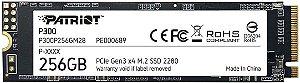 SSD 256GB M.2 PATRIOT 2280 NVME - P300P256GM28