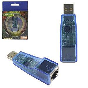 ADAPTADOR USB PARA REDE ETHERNET RJ45 10/100MBPS KYQF9700