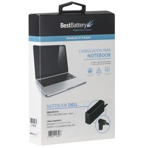 FONTE PARA NOTEBOOK BESTBATTERY DELL 19.5V 3.34A PINO 4.5*3MM